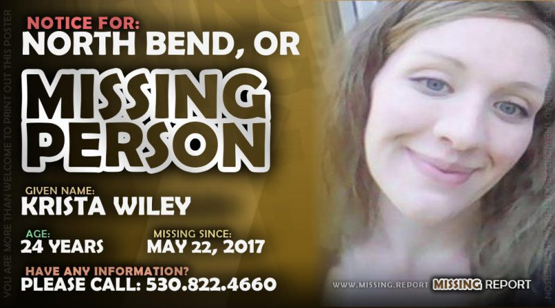 MISSING PERSON • Krista Wiley • North Bend, Oregon • 24 Years Old